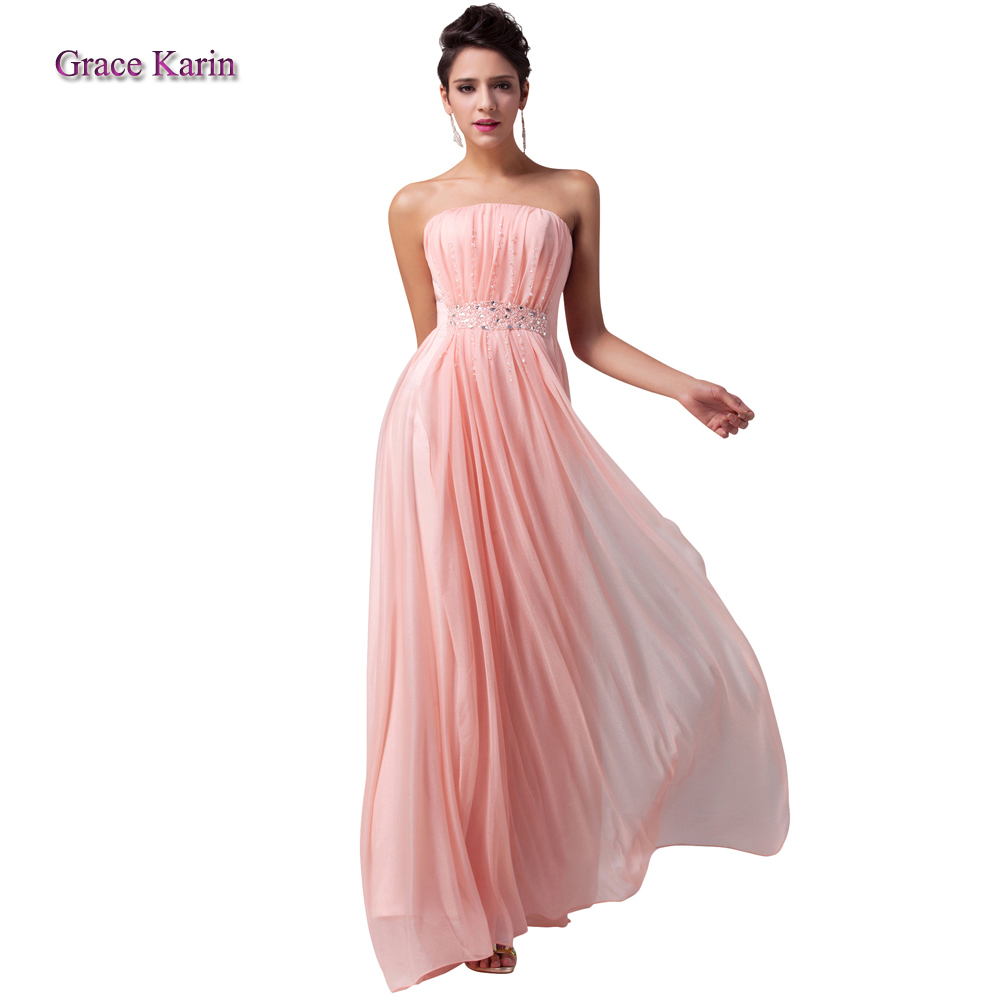 Vestido largo rosa claro – Vestidos de noche populares en España