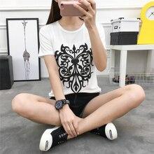 711 Spring Summer New Korean Slim Slim Shirt Short Sleeved T-shirt Printing Half Of Domestic Students Female Tide Filled Photos