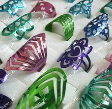 300 шт модные разноцветные Эмалированные кольца из нержавеющей