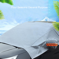 waterproof rain Half Car Cover Protector Waterproof Outdoor Snow Dust Rain Resistant Shield Car Covers Solar Protection Sunscreen Reflective (3)