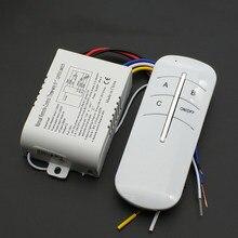 Ligar/desligar ac receptor sem fio lâmpada luz interruptor de controle remoto 220v 3 maneiras venda quente inteligente