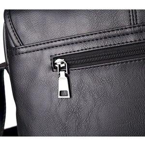 Image 5 - موضة جديدة حقيبة حقيبة للذكور حقيبة ساعي الأعمال Crossbody حقائب كتف للرجال العلامة التجارية مصمم حقيبة كمبيوتر محمول عادية