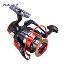 Metal Spool Spinning Fishing Reels  rubber Handle 12BB Stainless steel Shaft Rear Drag Freshwater Saltwater Fishing 2000 – 7000