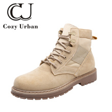 Cozy Urban 2018 chaussures hommes en cuir leather shoes men autumn Martin boots