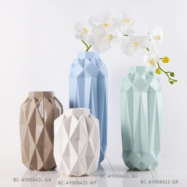 Dekorative Keramik Blumenvasen für Wohnzimmer Home Zubehör Ornament ...