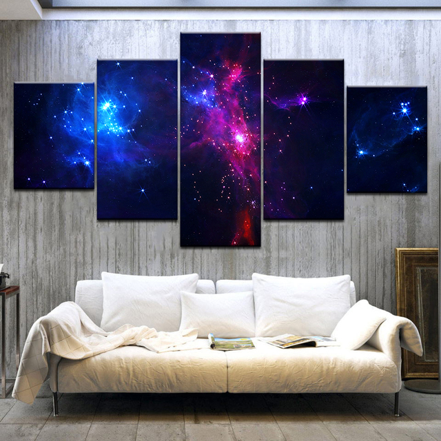 5 панелей/шт HD печать Звезда посуда старт небо современные настенные плакаты Печать на холсте художественная живопись для дома гостиной укр...