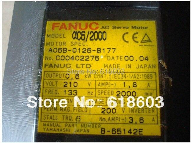 tested CNC control parts Alpha electrical engine FANUC servo motor A06B-0126-B177 motor cnc controller spindle coder sensor alpha i64 fanuc encoder a860 0365 t001