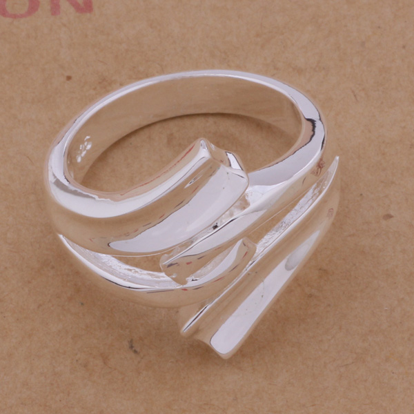 AR225 Hot Selling silver plated finger Rings for women men silver - Mote smykker - Bilde 3