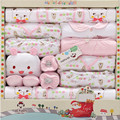 100% Cotton Winter Newborn Baby Girls Clothing Gift Sets Infants Cute Suit Thick Wram Baby Girls Underwear 19PCS /Set