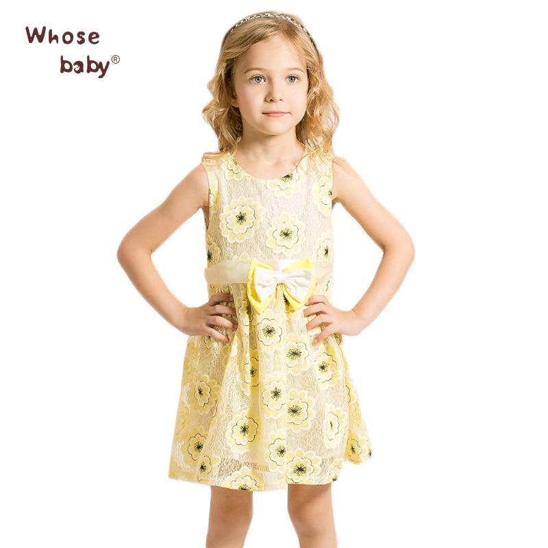 Girls Dress 2016 Summer Girl Clothes Print Kids Dresses Princess Costume Printable