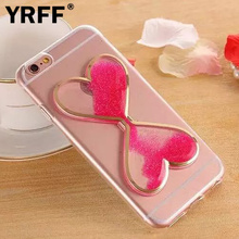 YRFF Quicksand Love Time Hourglass Back Case for iP