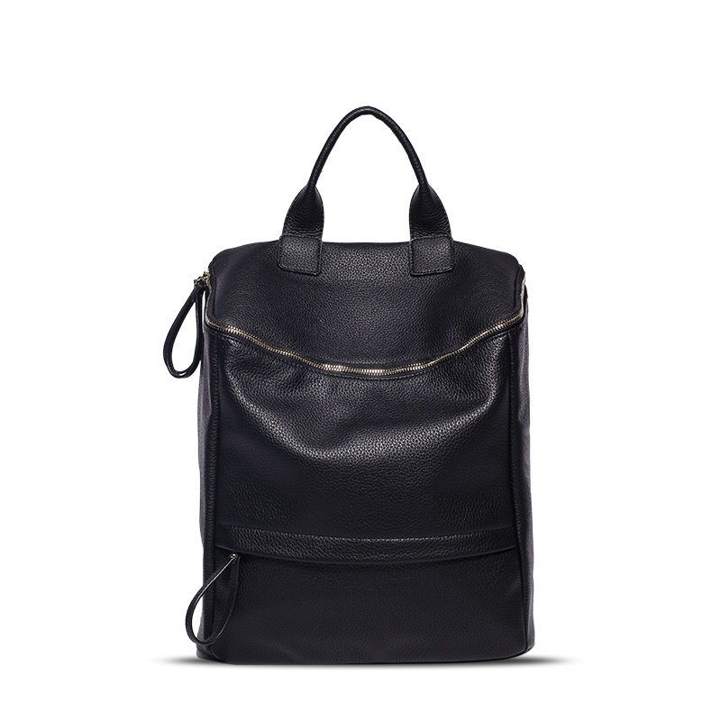 2018 Hot Sale Pu Leather Backpack Women Fashion Black Backpacks For Teenage Girls School Bags Famous Brand Women Bag Mochila image