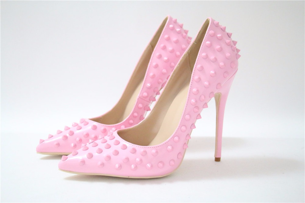 High Heel Fashion Pumps Pink Patent Leather Party & Wedding Shoes