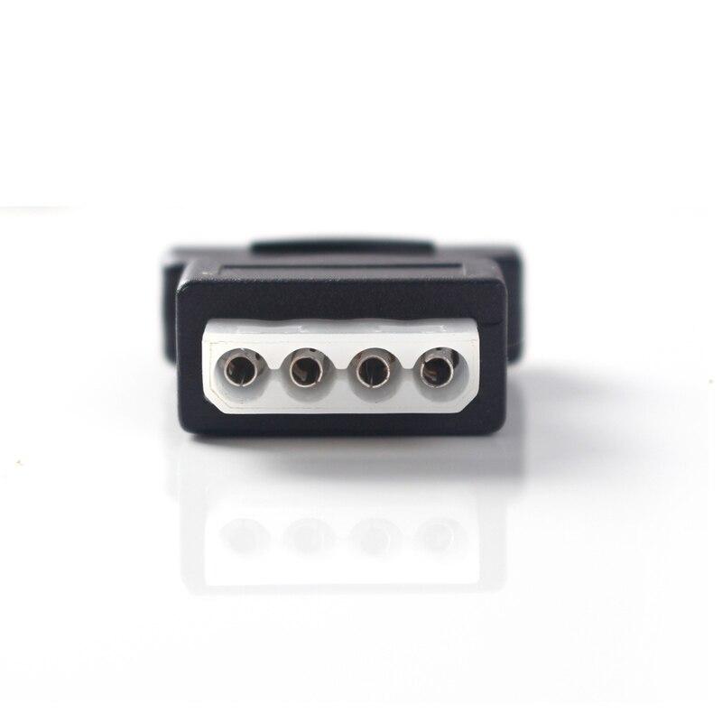 ULT-Best 2 Pack 15Pin Sata Serial ATA macho a Molex IDE 4 pines - Cables de computadora y conectores - foto 4