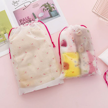 Cherry Transparent Cosmetic Bag Travel Makeup Bag Drawstring Women Make Up Bath Organizer Storage Bag Pouch Toiletry Wash Beauty недорого