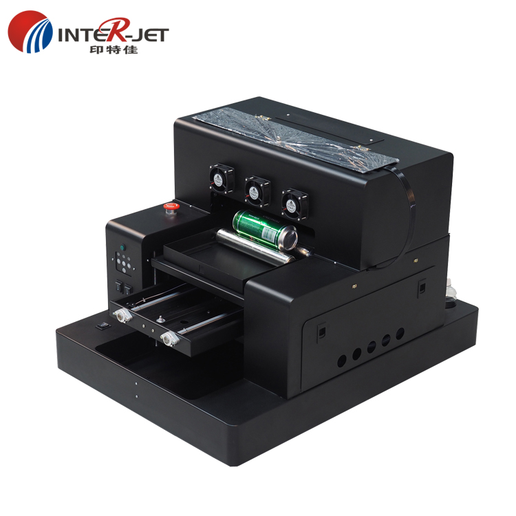 High Quality Automatic A3 Size UV Printer For Bottle  Plastic , Pvc TPU,Leather ,metal Etc Printing  RIP Software 9.0