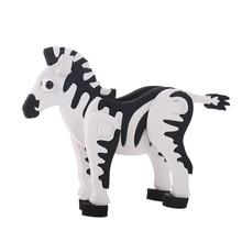2019 Newest Creative DIY EVA Foam Zebra Puzzle 3D Cartoon Animal Learning Education Game Toys