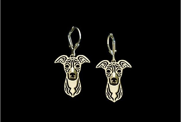 Unique Handmade Hiphop Style Italian Greyhound Earrings Girl Gift Jewelry Drop Earrings--12paris/Lot(6 Colors Free Choice)