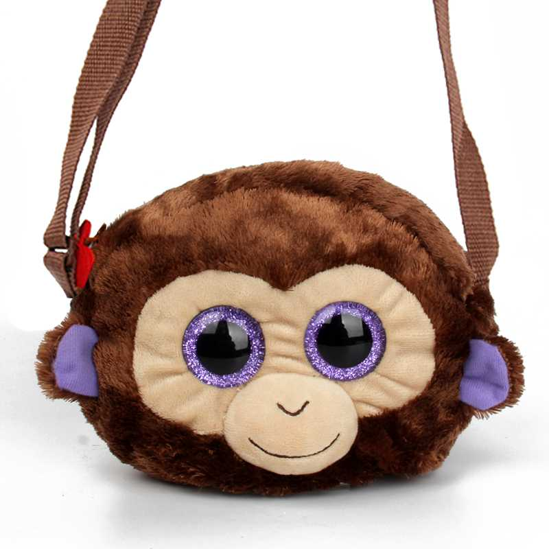 Ty Beanie Simulate animals Children School Bags Kindergarten Monkey kids boy plush backpacks Cartoon Animals girls Kids Bags