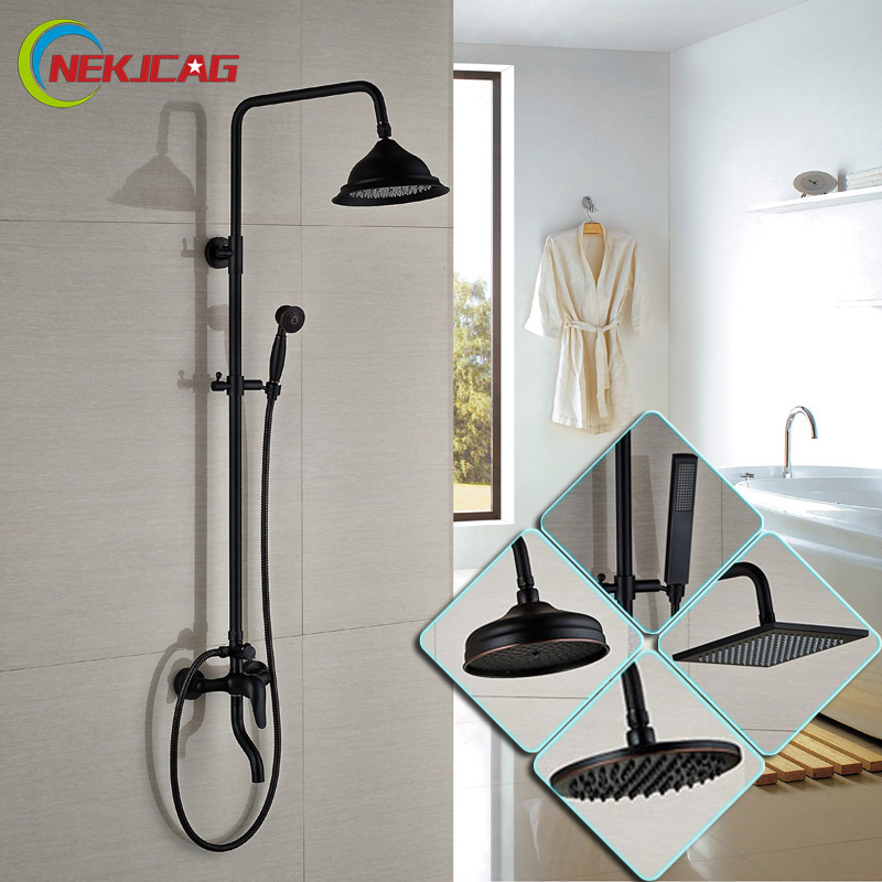 Good Quality Single Lever Rainfall 8 Shower Faucet Wall Mounted Sliding Bar Handshower Bath and Shower Mixer Taps