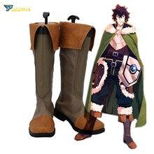 The Rising of the Shield Hero Naofumi Iwatani Cosplay Shoes Brown Boots Custom Made