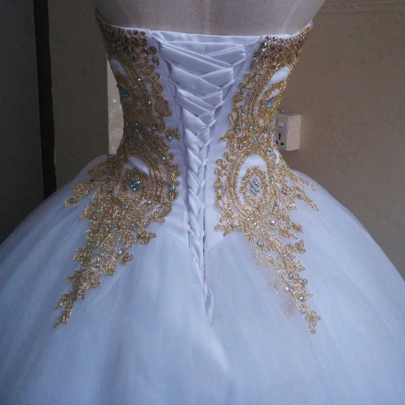43051678404 ... Sikilely Popular White Quinceanera Dress 15 anos Ball Gown Gold Lace  Crystal 2018 Cheap Sweet 16