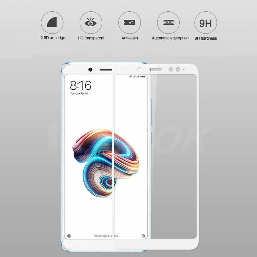 Copertura completa di Vetro Temperato Per Xiaomi Redmi Nota 5 versione Globale di Protezione Dello Schermo per la Nota Redmi 5 Pro Note5 pellicola protettiva