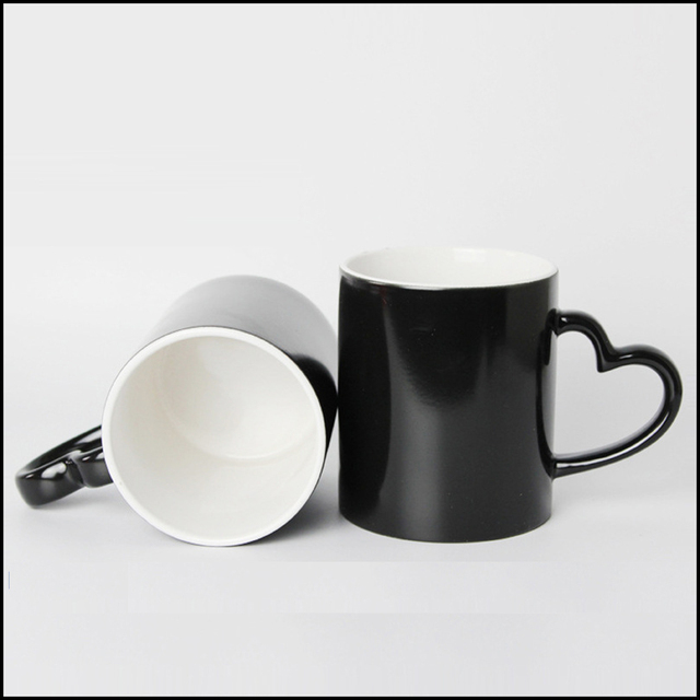 DIY Photo Magic Color Changing Coffee Mug custom your photo on Tea cup Black color best gift for friends 5
