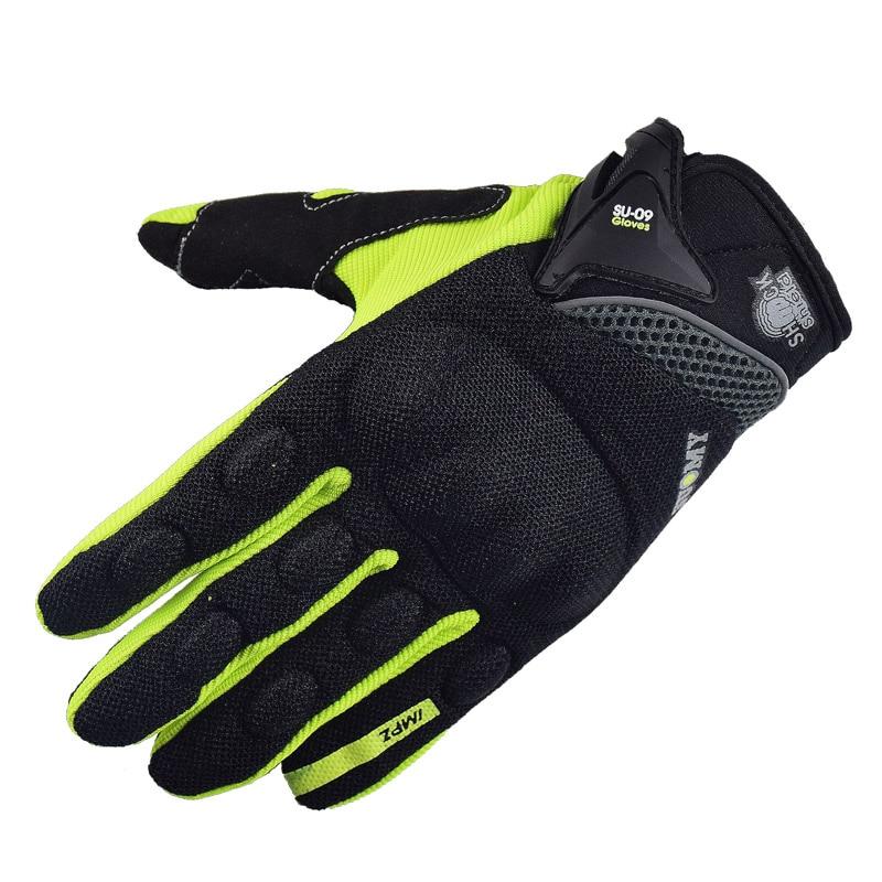 SUOMY NEW Motorcycle Gloves Green Motocross Racing gloves Full Finger Cycling guantes moto Motorbike Summer luvas da motocicleta