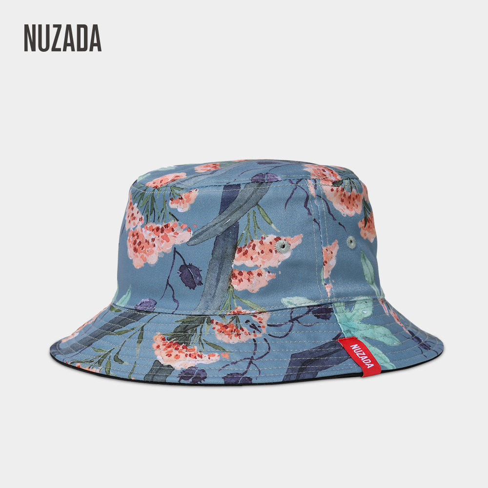finest selection 65f6e dfd50 NUZADA Spring Fisherman Hats Men Women Bucket Hat Summer Autumn Printing  Double Sided Can Be Worn Caps Fashion Flowers