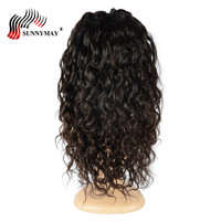 Sunnymay Body Curly Lace Front Human Hair Wigs Indian Remy Hair Bleached Knots Human Hair Wigs With Baby Hair