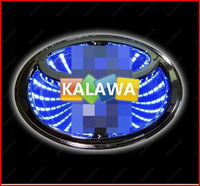 (10cm*6.8cm) 3D laser LED emblem car badge 3D logo light rear light Replacement Case For toyota RAV4/ EX-COROLLA GGG universal pu leather car seat covers for toyota corolla camry rav4 auris prius yalis avensis suv auto accessories car sticks