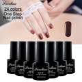 Saroline lucky Colors One Step Gel Nail Polish UV Gel Nail Polish Long-lasting Soak-off LED Gel 3 in 1 Nail Gel Nail Art Tools