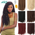 "18"" faux locs crochet dreads blonde hair extensions 613 color hairpieces dreadlocks braids havana mambo faux locs crochet braids"