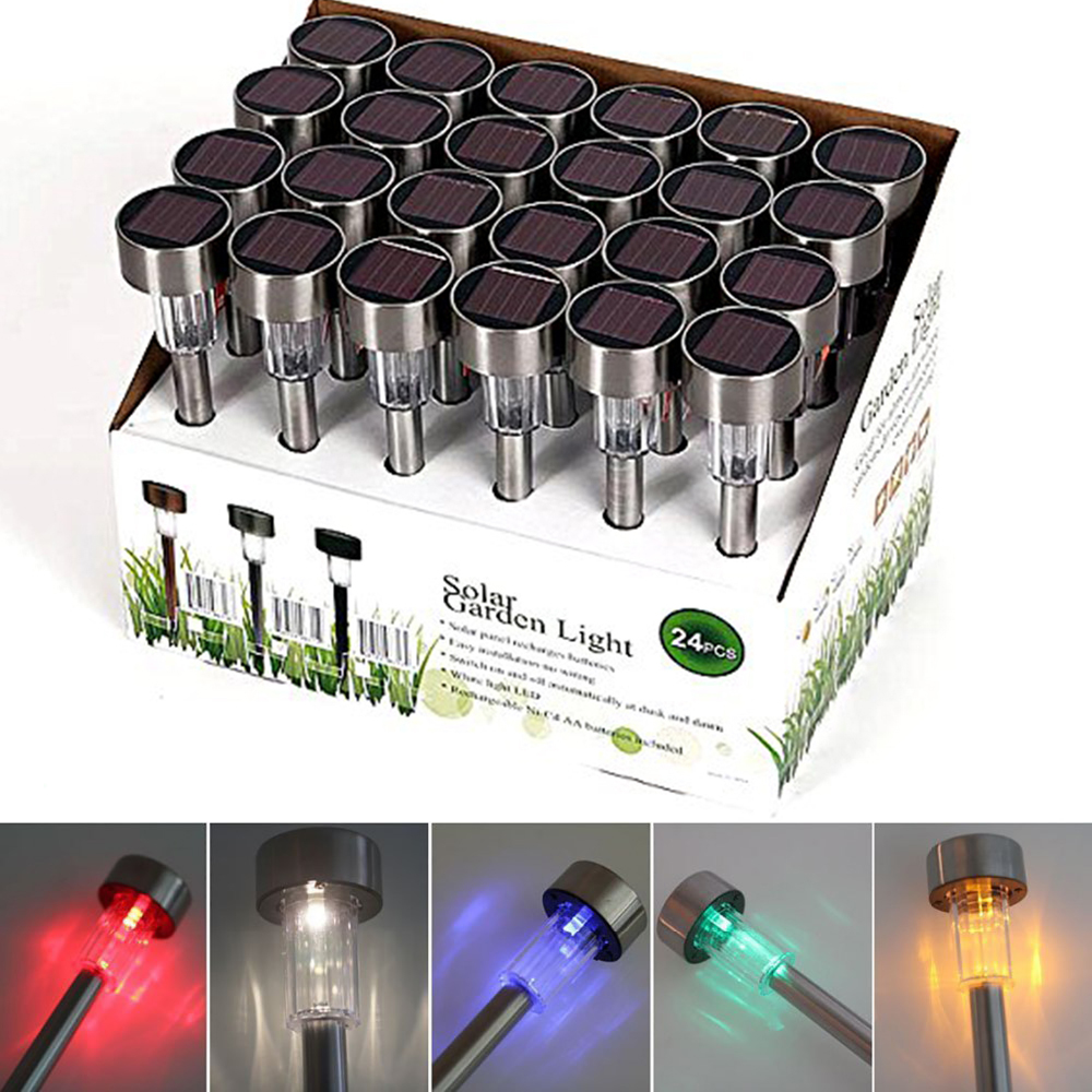 Set Of 10 Solar Led Garden Lights Outdoor Lighting For Patio Lawn Path Driveway Landscaping Enhance Exterior Decor Lamp
