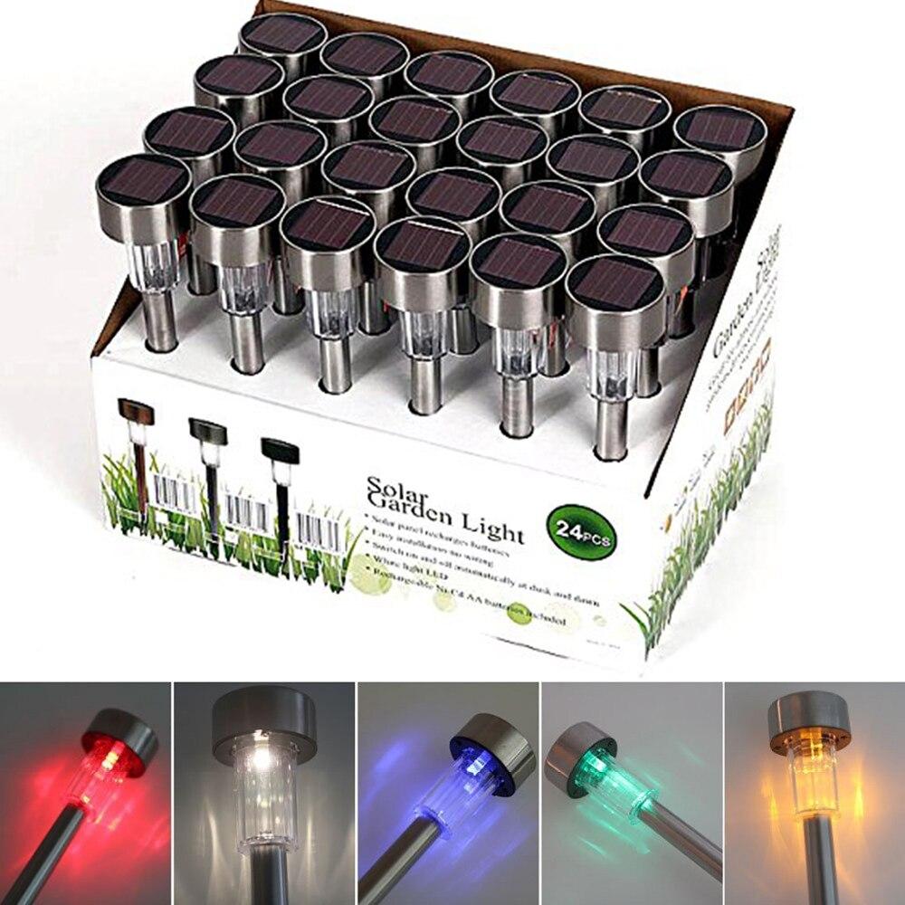 Set Of 10 Solar LED Garden Lights Outdoor Lighting For Patio Garden Lawn  Path Driveway Landscaping Enhance Exterior Decor Lamp
