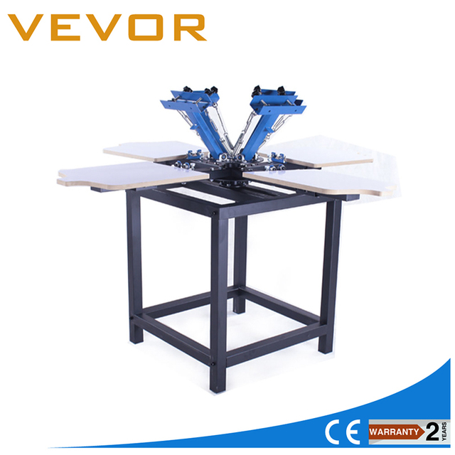 Vevor Manual 4 Color 4 Station Silk Screen Printing Machine with Frame