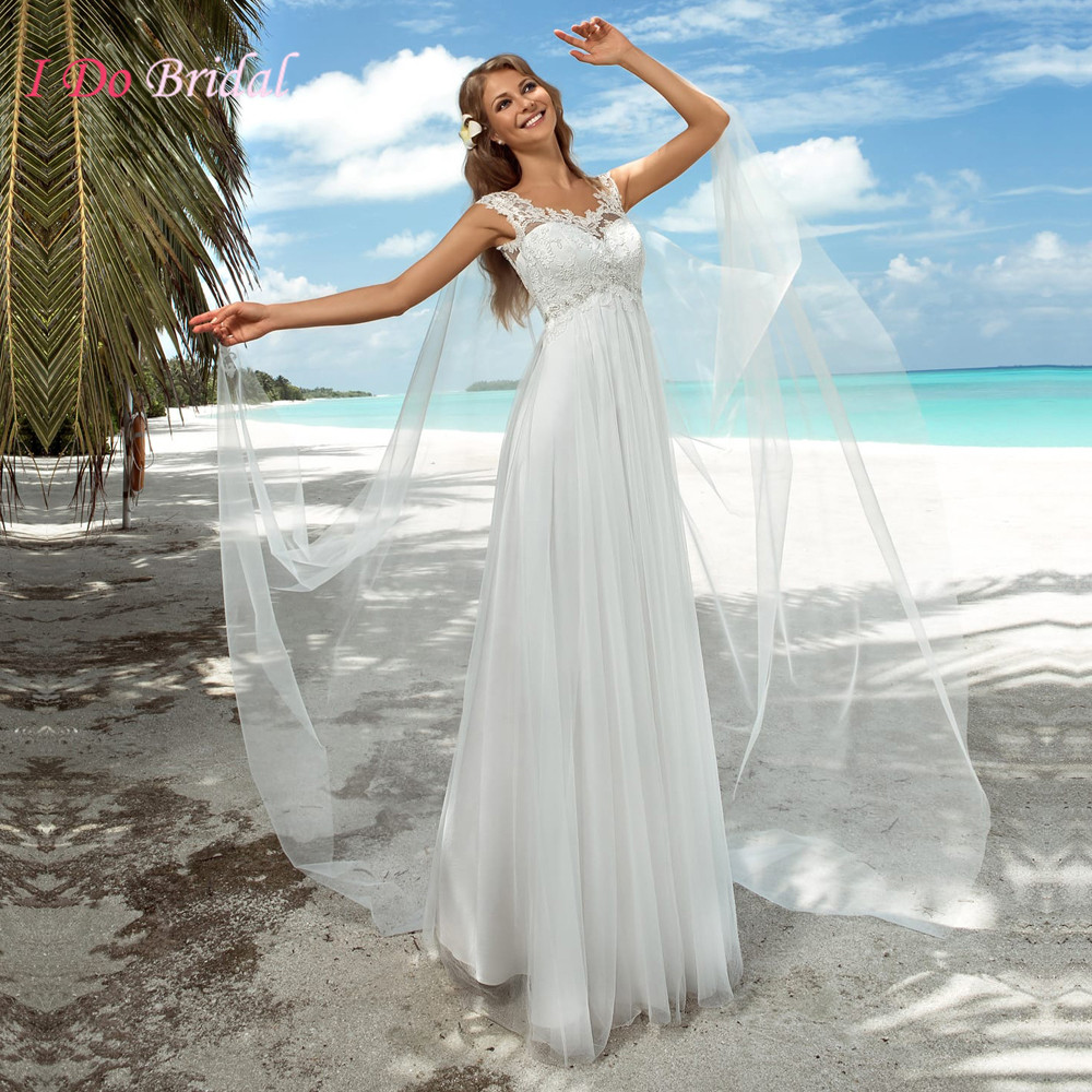 Online get cheap summer maternity dress wedding aliexpress summer beach wedding dress boho for pregnant women maternity empire lace bridal gowns plus size cap ombrellifo Image collections