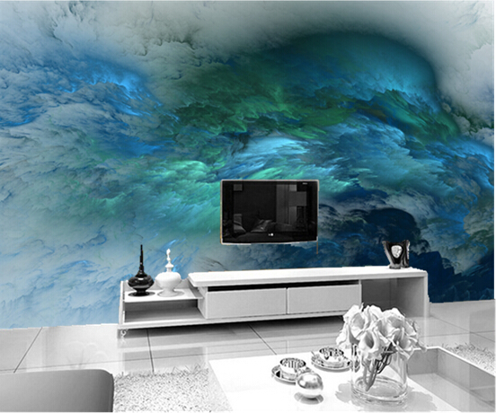 Custom 3d murals,Abstraction 3D Graphics wallpapers,for the living room bedroom ceiling TV background wall waterproof wallpaper custom ceiling wallpaper blue sky and white clouds murals for the living room apartment ceiling background wall vinyl wallpaper
