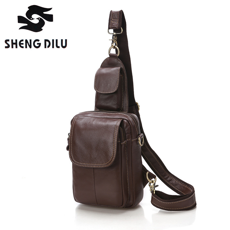 Genuine Leather Men bags cowhide chest pack Men's Crossbody chest bags small bag for male messenger bag handbags High Quality rosicil women vintage low waist jeans pencil stretch denim pants female slim skinny trousers for woman womens plus size