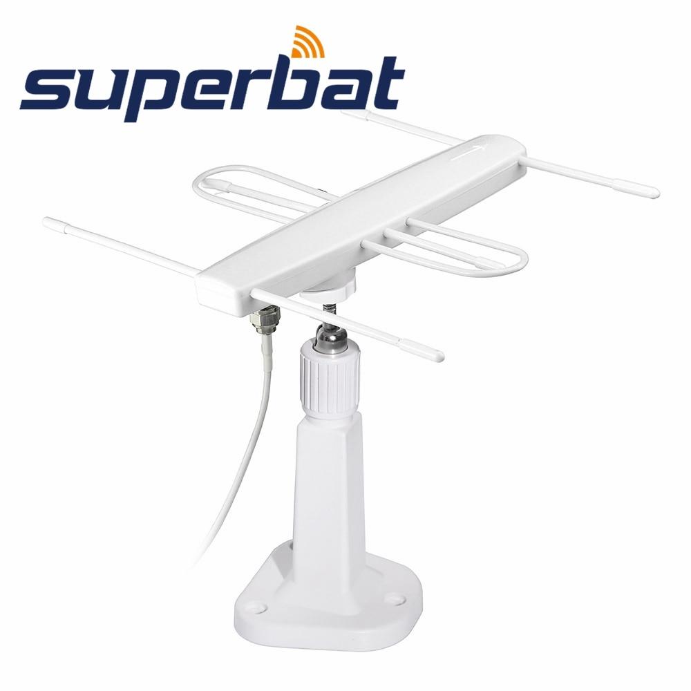 Mini Indoor Gain 10dbi Digital Dvb-t//fm Freeview Aerial Antenna Base for TV HDTV