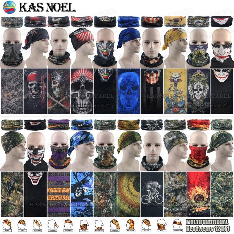 Latest Fashion Outdoor  Multifunctional Tube Headwear Bandana Magic Motorcycle Mask Cap Sunscreen Muffler Seamless Bandana