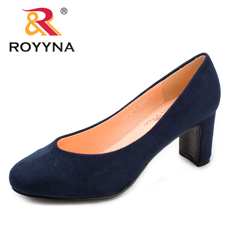 ROYYNA New Classics Style Women Pumps Round Toe Women Dress Shoes High Heels Lady Wedding Shoes Comfortable Fast Free Shipping siketu 2017 free shipping spring and autumn women shoes fashion sex high heels shoes red wedding shoes pumps g107