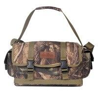 Outdoor Camouflage Shoulder Bags 34*20*18CM 600D Hunting Shooting Tool Holder Bag Camping Messenger Bag Tactical A4868