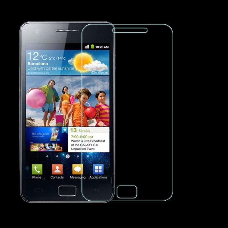 81875bcf8ca 2 unids, protector de pantalla de vidrio templado para Samsung Galaxy S2  i9100 vidrio a prueba de explosiones para Samsung S2 i9100 película