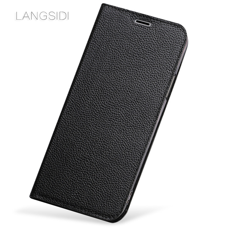 wangcangli phone case ultra thin small litchi texture clamshell phone cover For Samsung Note 8 full manual custom processing