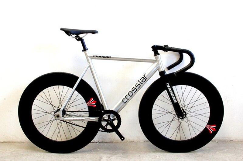 Fixie Bike Urban Track Bike Frame With Carbon Fiber Fork  90mm RIM Road Bicycle Fixed Gear Bike Single Speed Bike