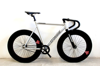 Fixie Bike Urban Track Bike frame with Carbon Fiber Fork 90mm RIM road bicycle Fixed Gear Bike single speed bike