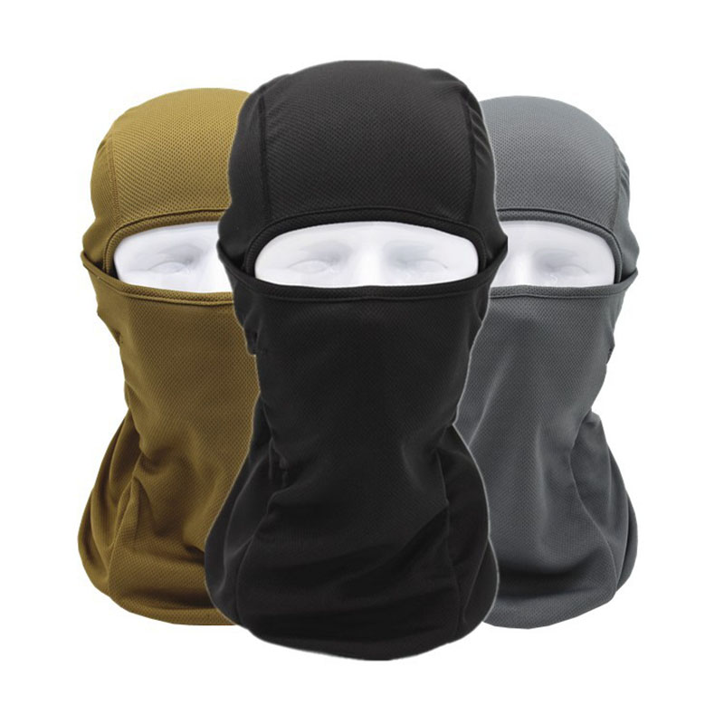 Full Face Mask Breathable CS Tactical Outdoor Motorcycle Cycling Head Cover Safety Mask Sunscreen Windproof Protection 14 Colors