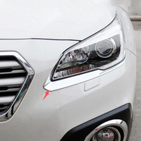ABS Plastic For Subaru Outback 2015 2016 Car styling Car front light lamp Headlamps Eyebrow Panel Cover Trim|Chromium Styling|   -